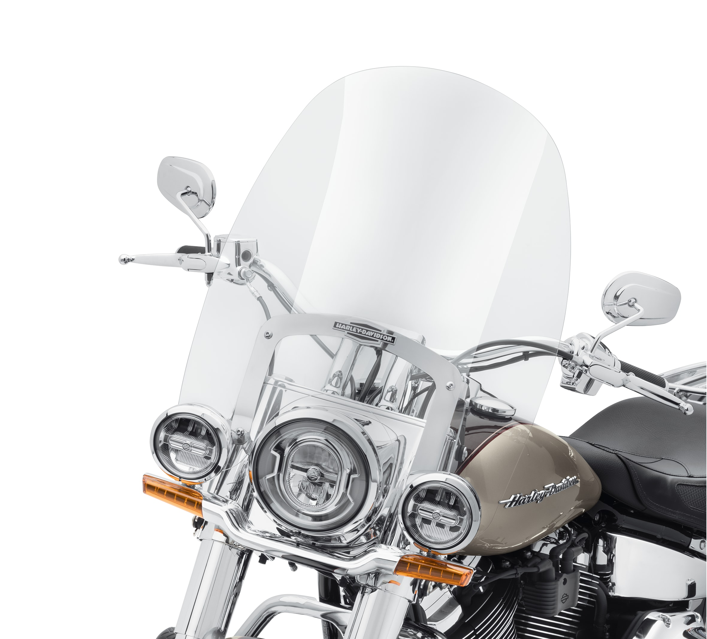 Windshield Kit Non-Detachable Clear,for Harley Davidson,by V-Twin
