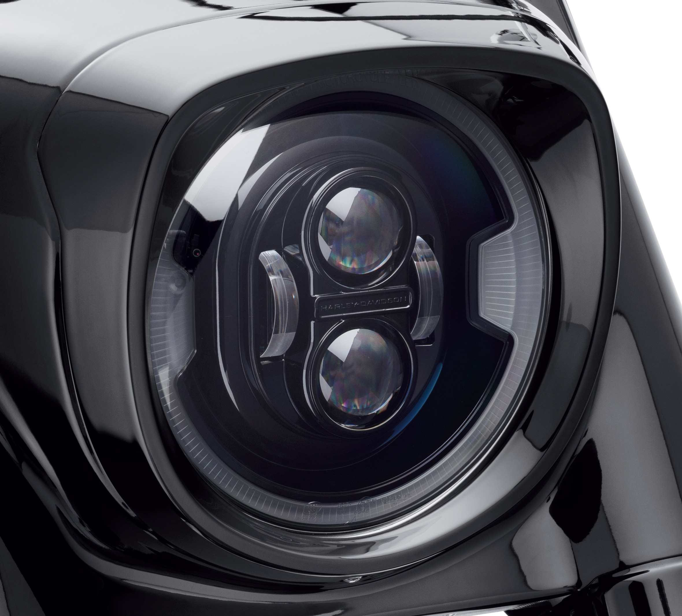 """7/"""" LED Projector Daymaker Black Headlight Harley With Black Adapter Mount"""
